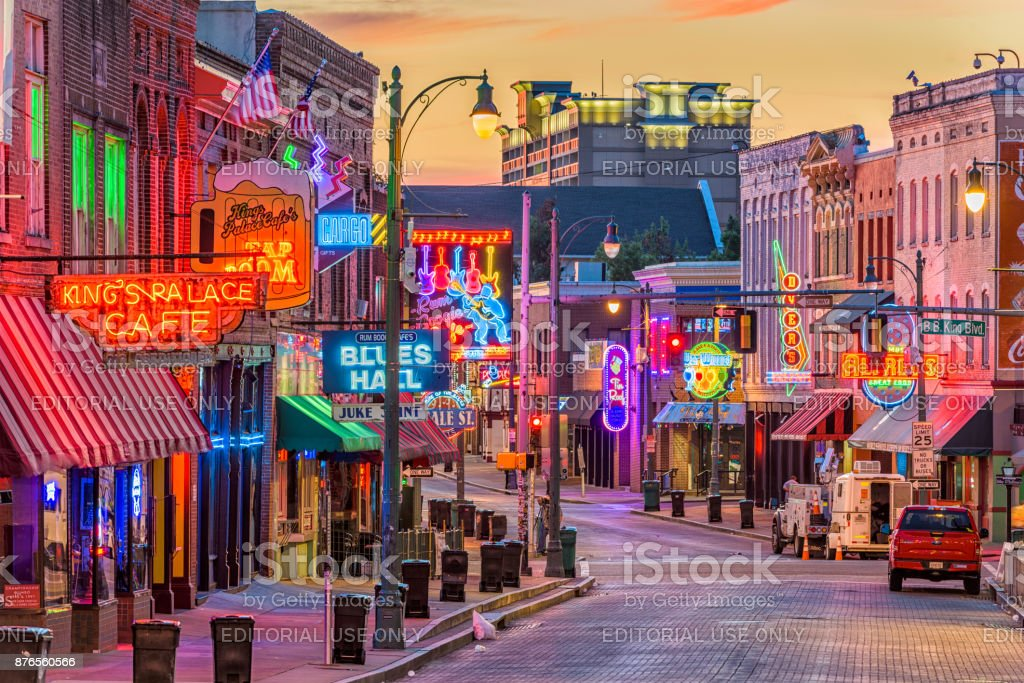 Beale Street Memphis Tennessee stock photo