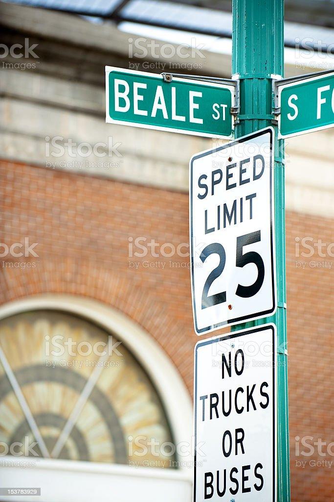 Beale street stock photo