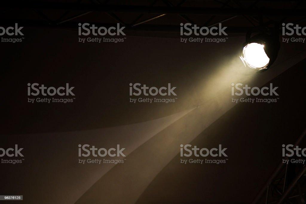 Un fascio di luce di scena foto stock royalty-free