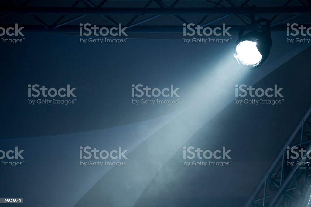 Beam From Stage Light royalty-free stock photo