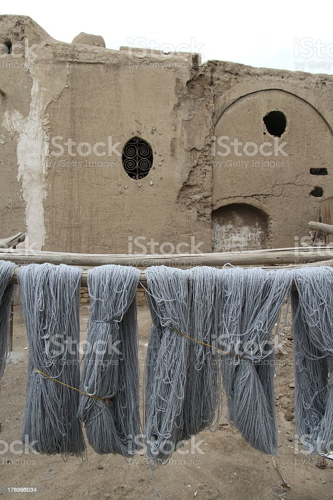 Beam with thread royalty-free stock photo