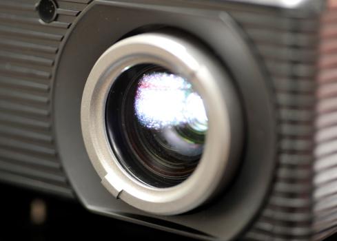 beamer lens macro shot