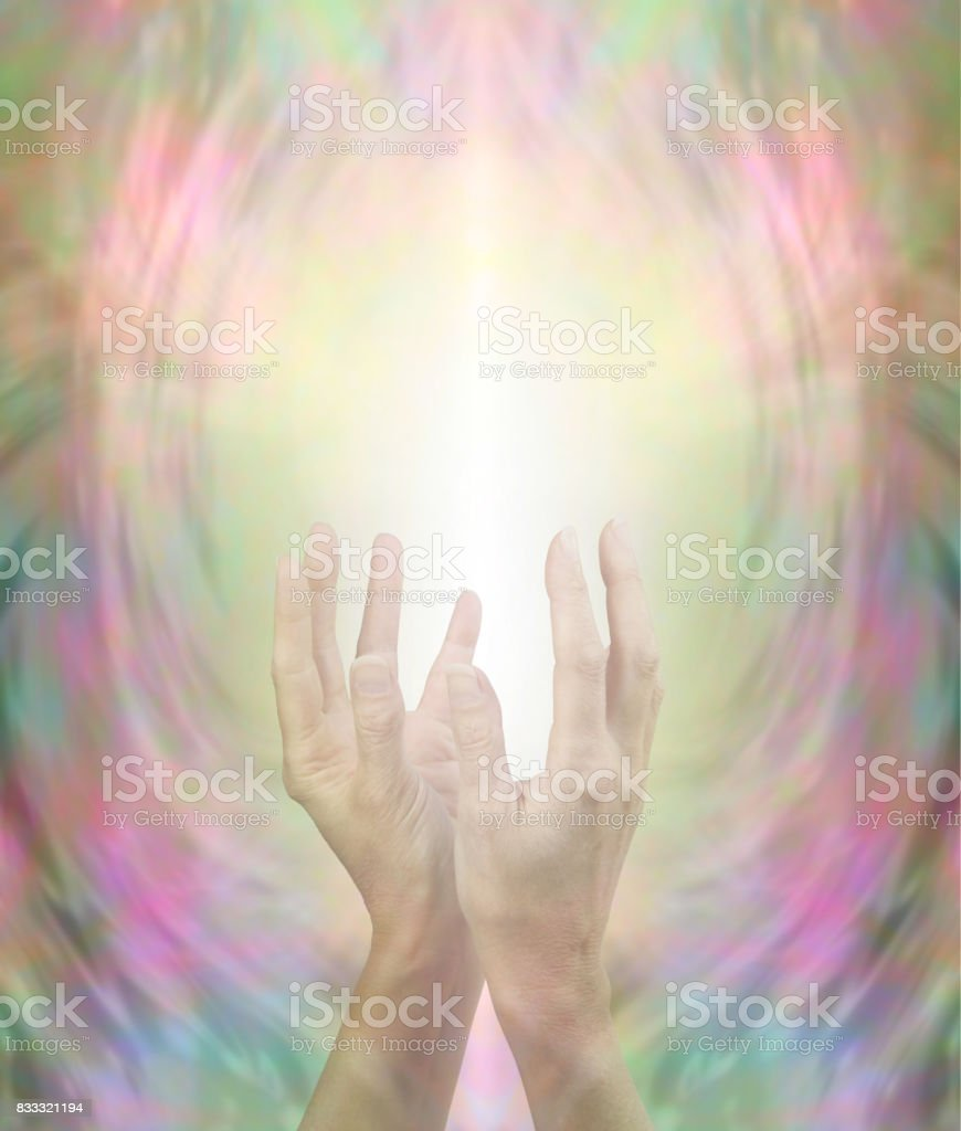 Beaming Beautiful Healing Energy stock photo