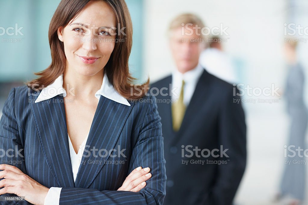 Beaming with ambition stock photo