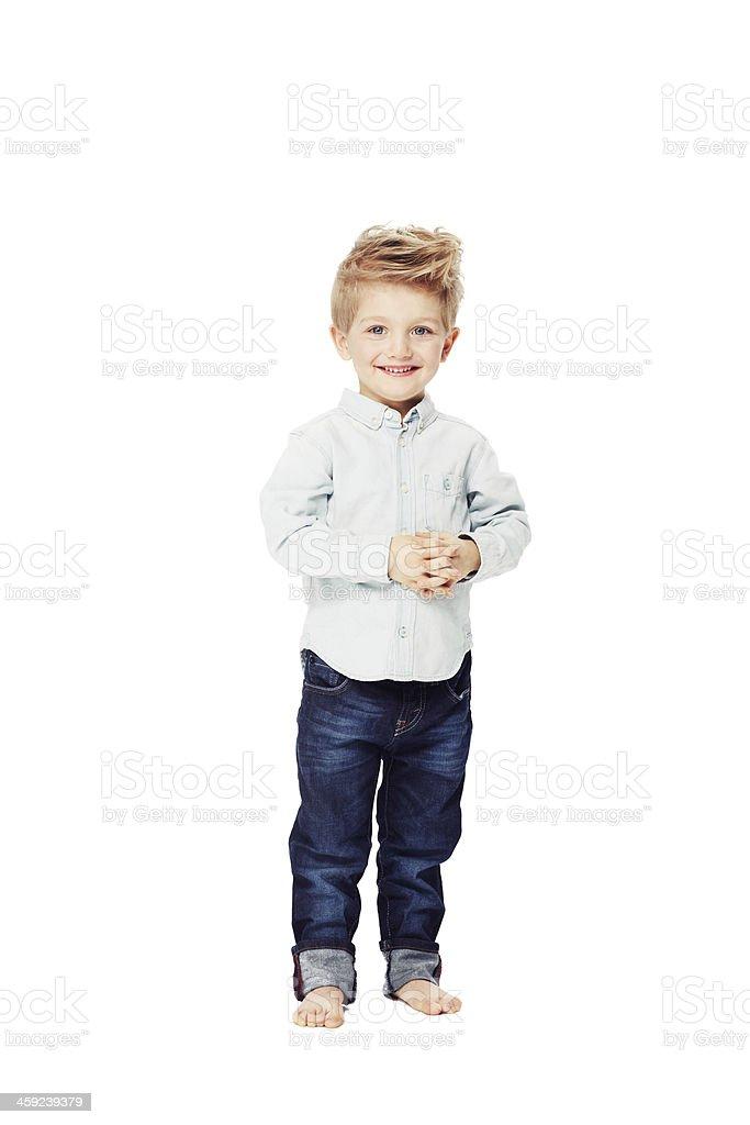 Trasmissione con boyhood fiducia - foto stock