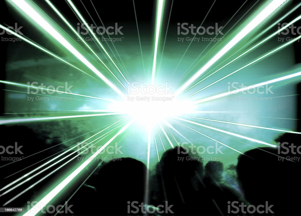 Beams of Green Laser [4] royalty-free stock photo