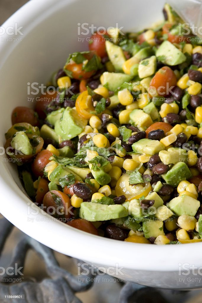 Bean and Corn Salsa stock photo