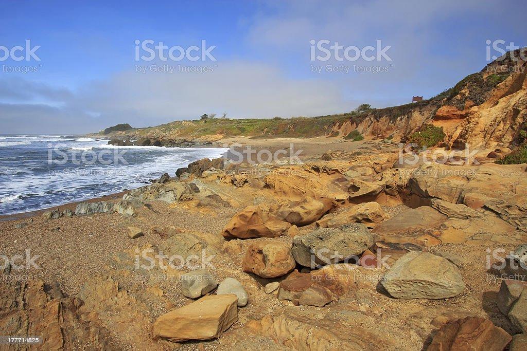 Bean Hollow State Beach in California stock photo