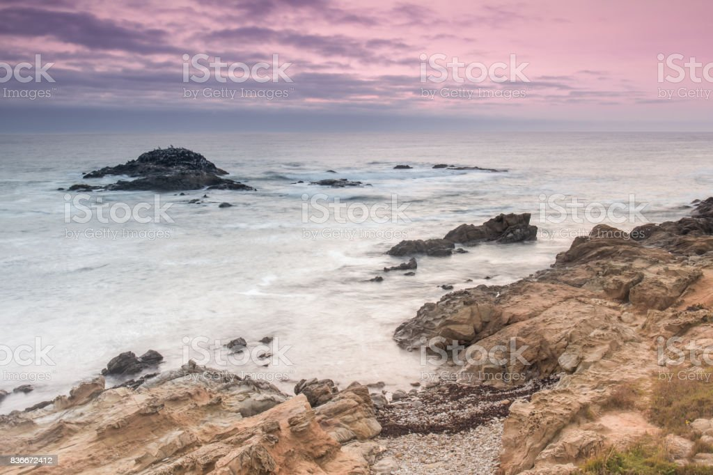 Bean Hollow State Beach Twilight. stock photo