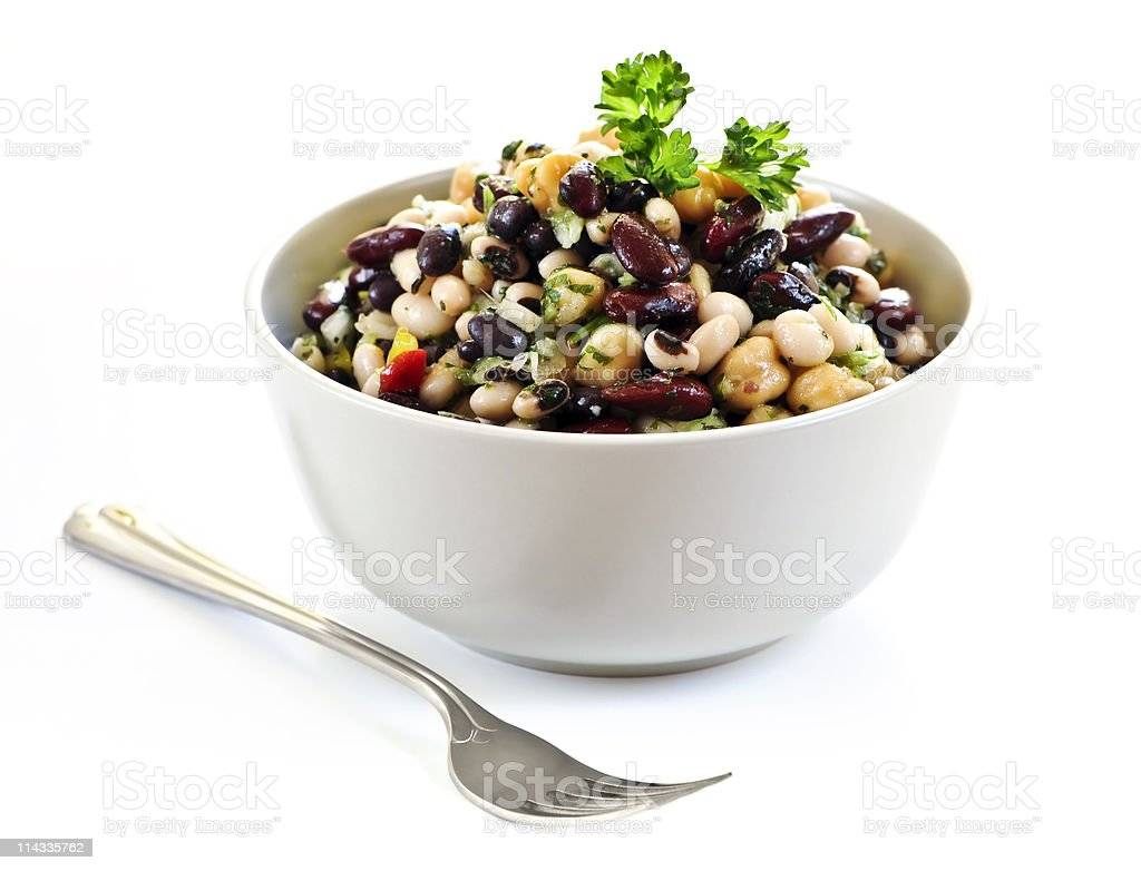 Bean salad royalty-free stock photo