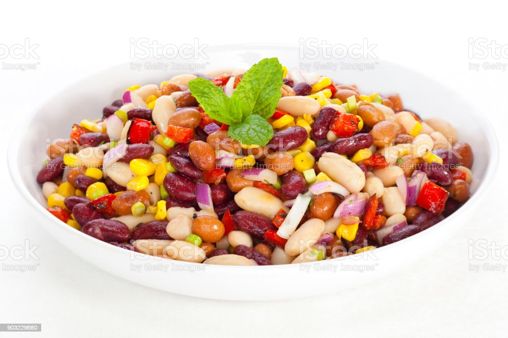 Bean Salad with Corn stock photo
