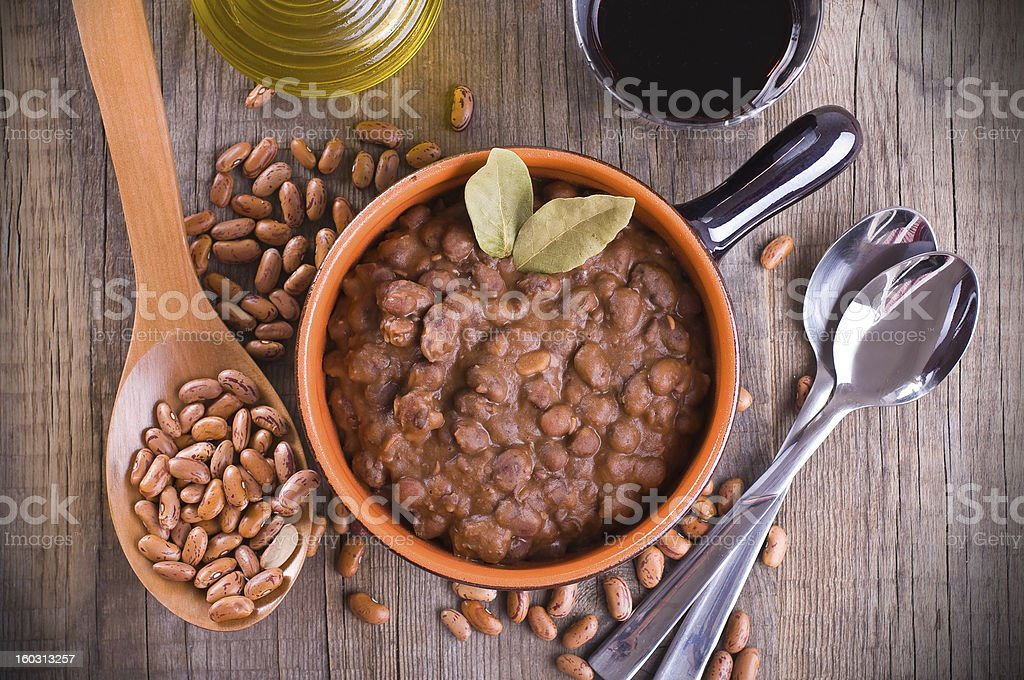 Bean soup. stock photo