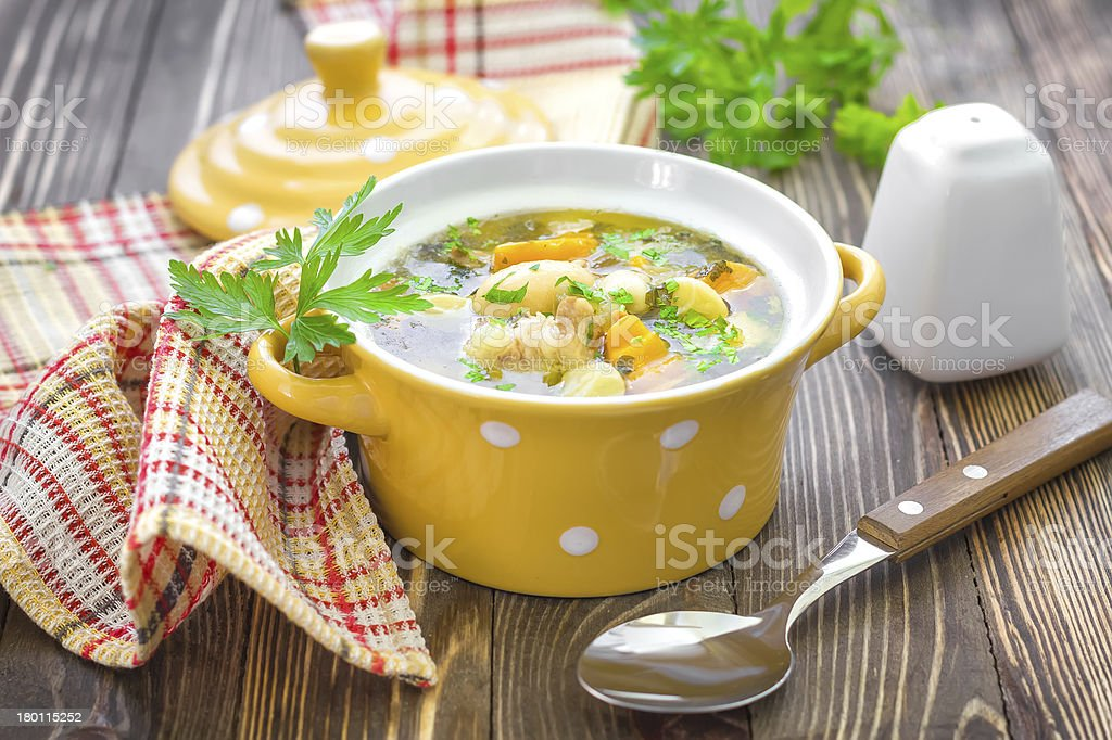 Bean soup stock photo