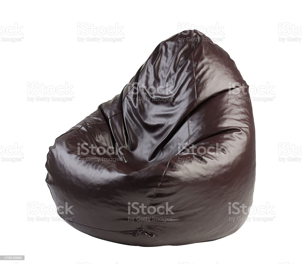 beanbag a comfortable seat isolated stock photo