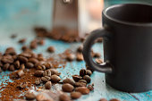 istock Beans and an espresso cup 1335210767