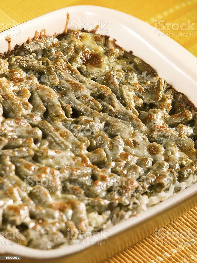 Beans and mozzarella casserole royalty-free stock photo