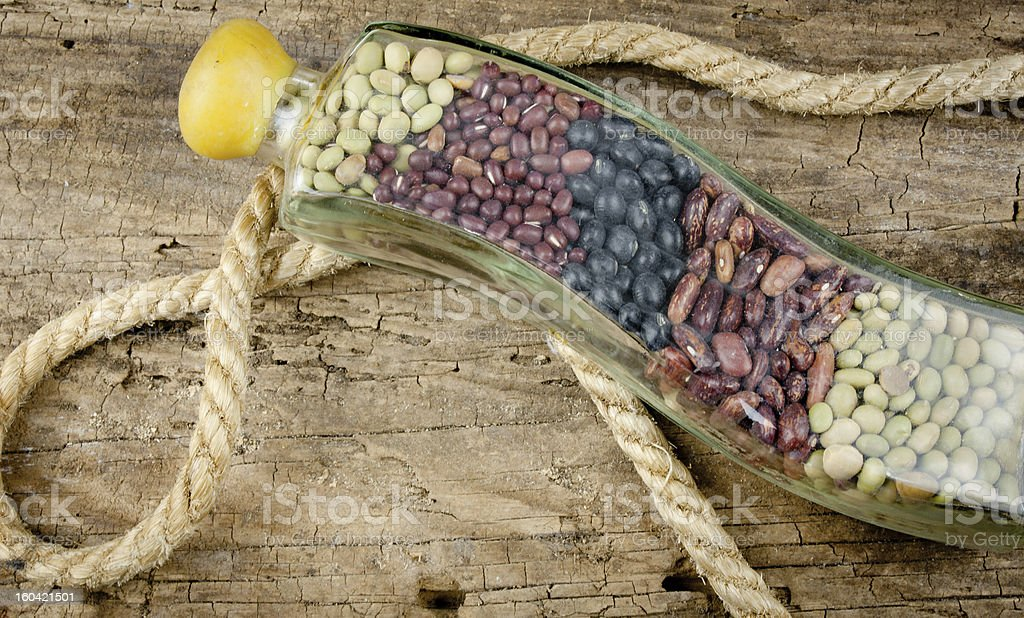 Beans And Rope royalty-free stock photo