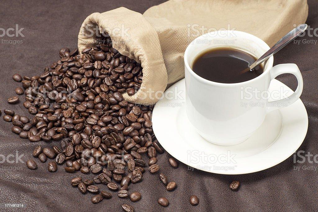 beans coffee mugs royalty-free stock photo