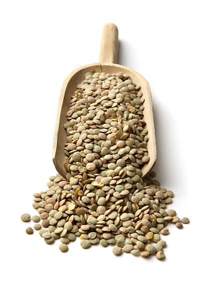 Beans: Green Lentil stock photo