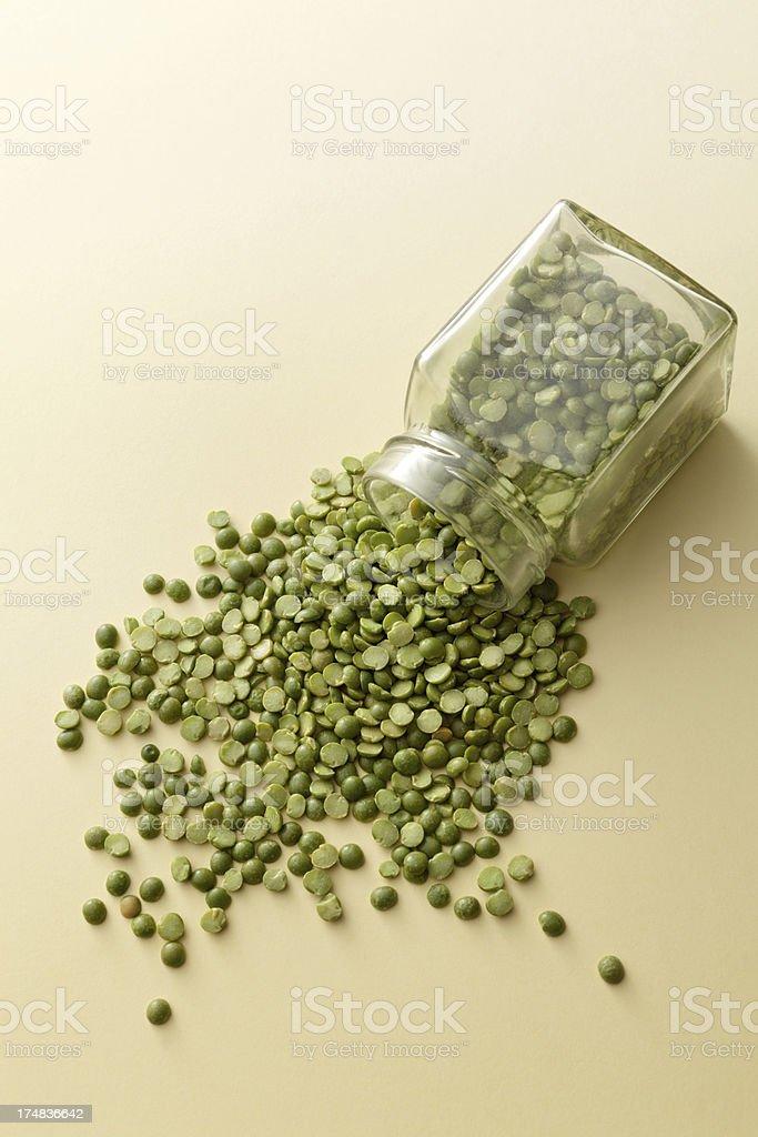 Beans: Green Split Pea royalty-free stock photo