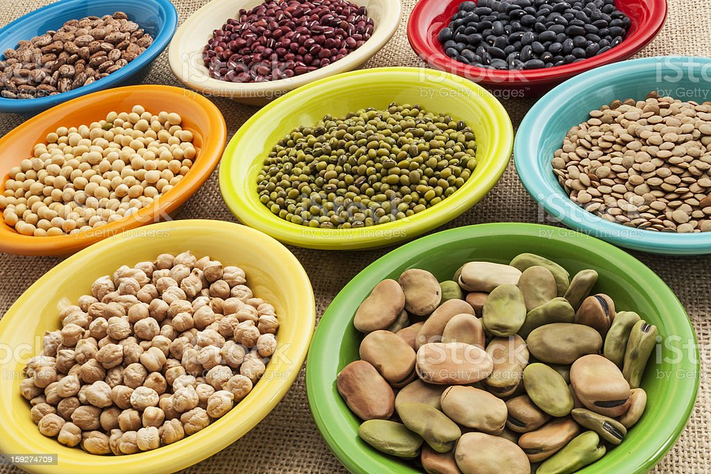 beans in bowls abstract royalty-free stock photo