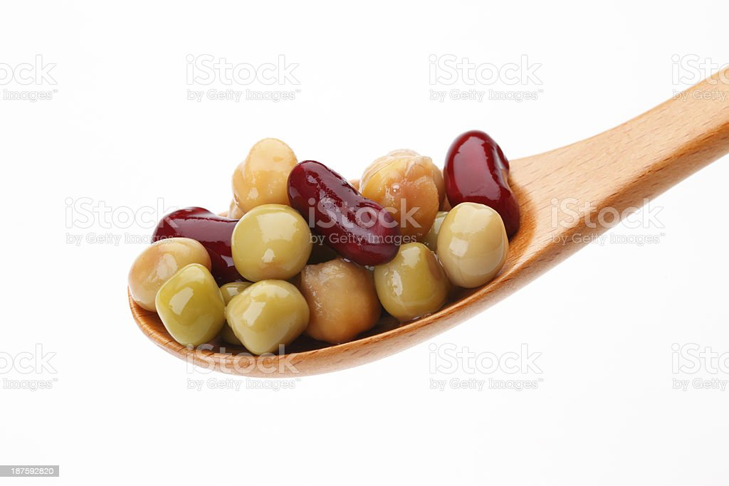 Beans in spoon royalty-free stock photo