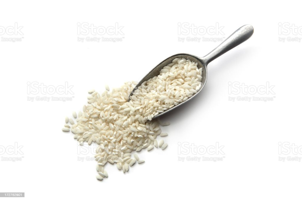 Beans, Lentils, Peas and Grains: Rice stock photo