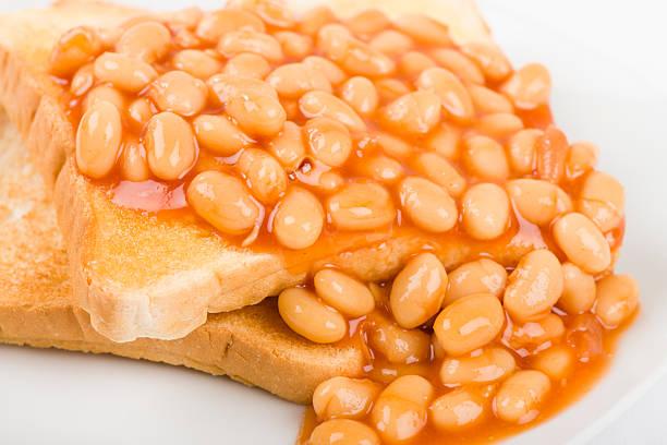 Beans on Toast stock photo