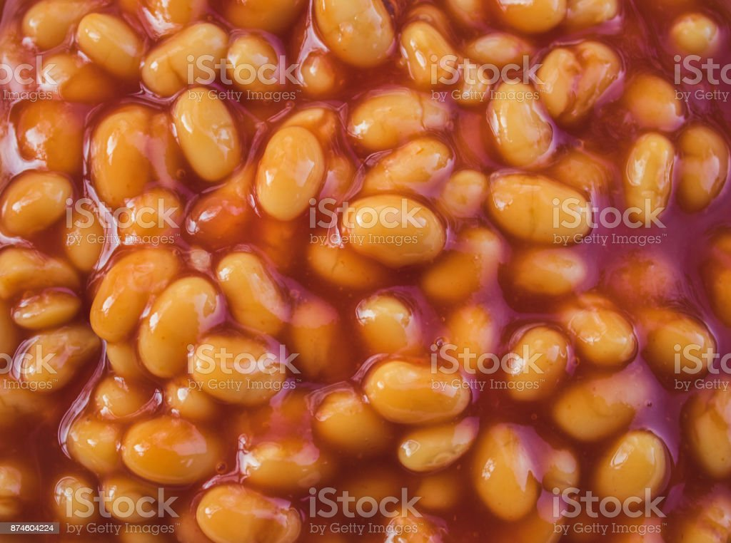 Beans on Toast - Traditional British Dishes stock photo