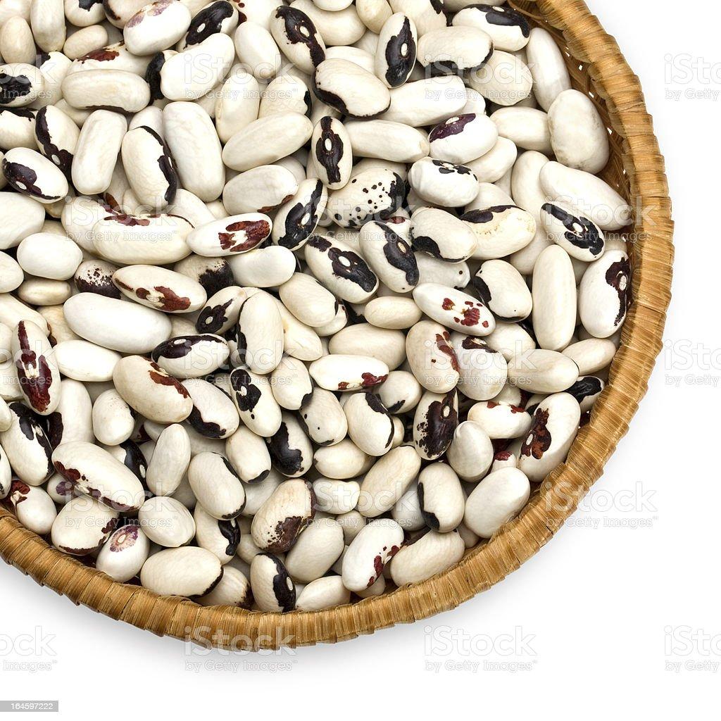 beans  on white background royalty-free stock photo