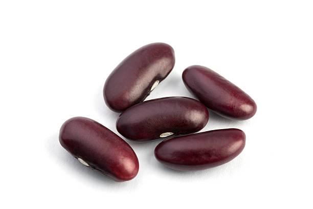 Beans on White stock photo