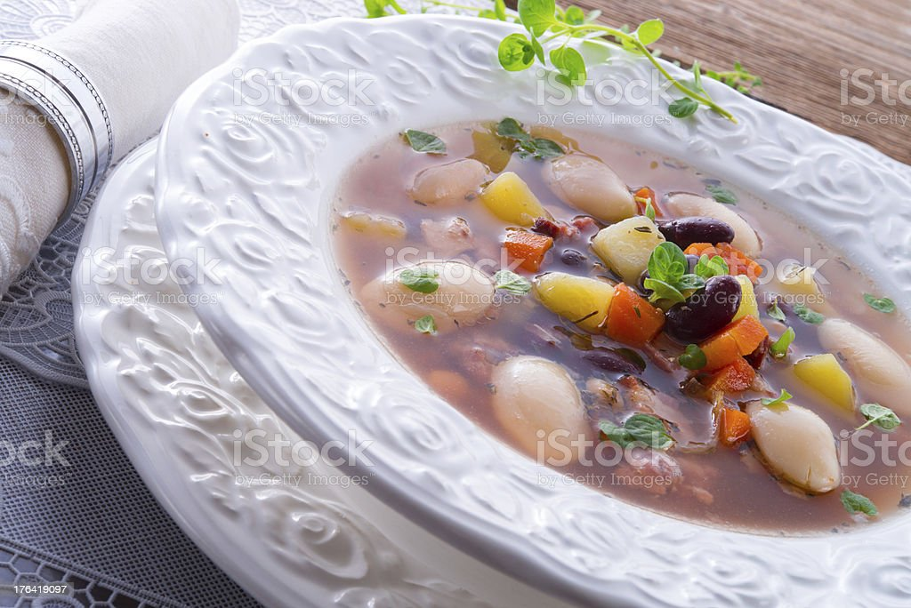 beans soup royalty-free stock photo