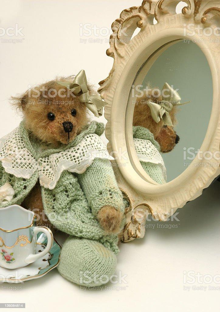 Bear And Mirror royalty-free stock photo