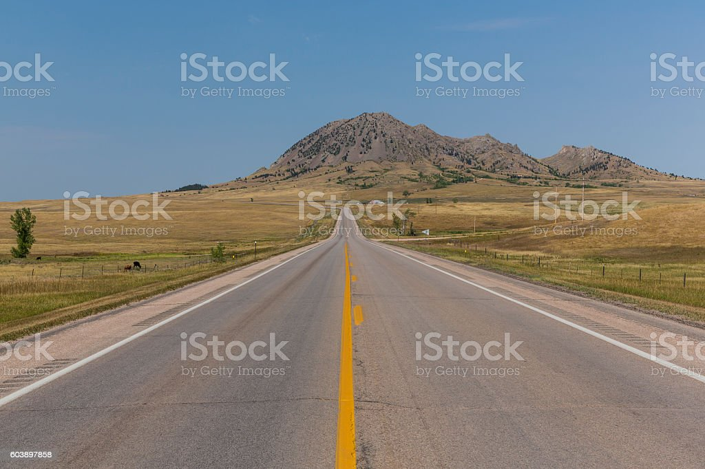 Bear Butte Highway stock photo