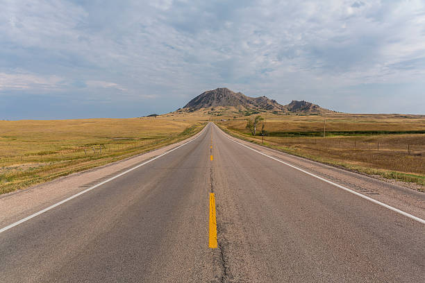 Bear Butte Highway stock photo