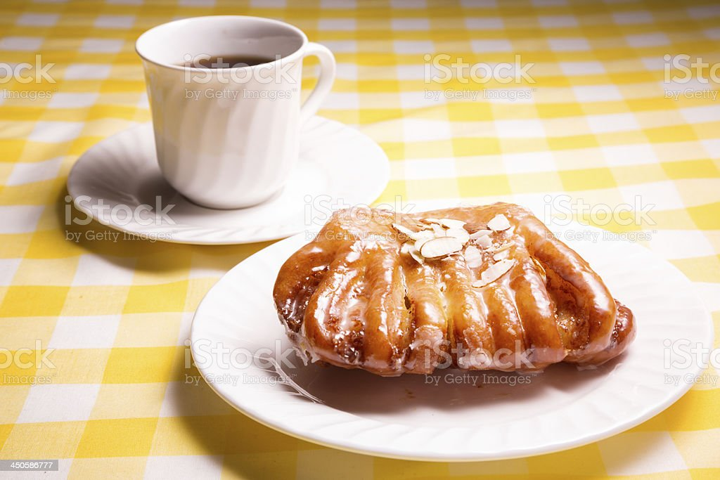 Bear Claw Pastry and Coffee stock photo