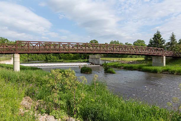 Bear Creek Bridge and Dam stock photo