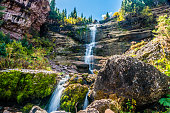 Bear Creek Falls near Telluride, Colorado.