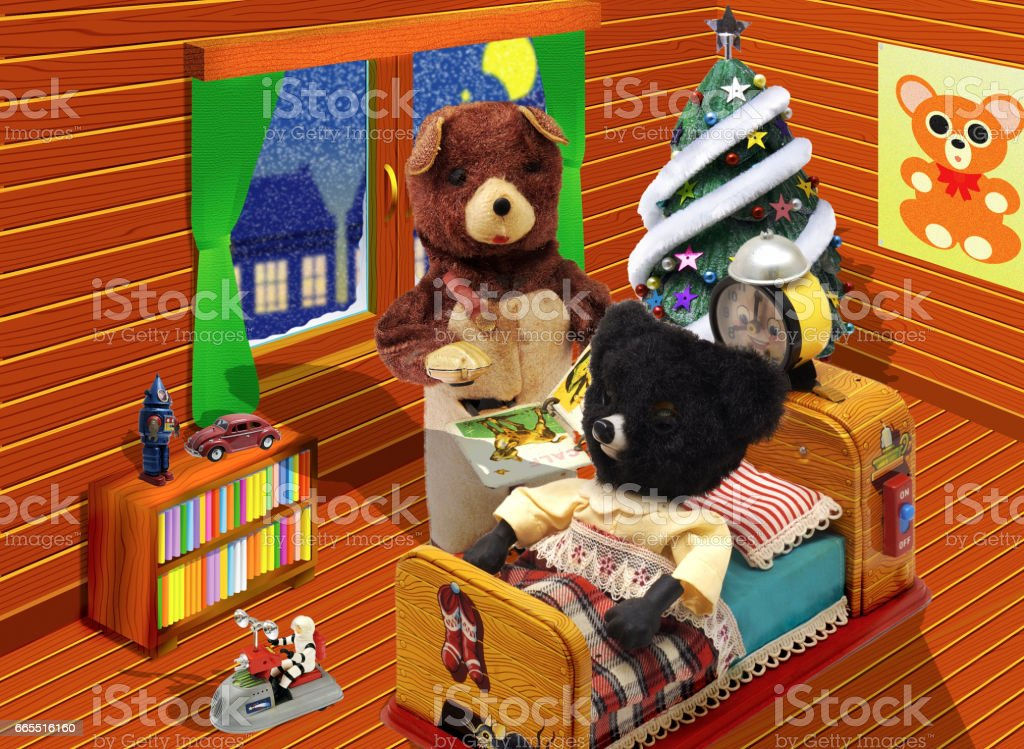 Bear dolls stock photo