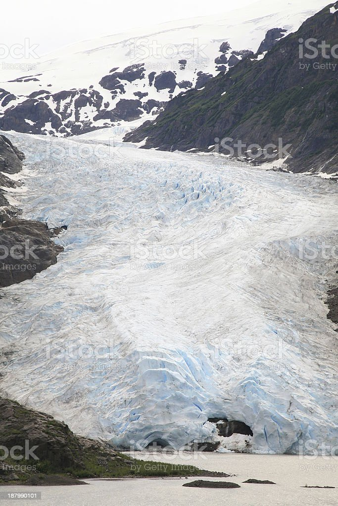 Bear Glacier, east of Stewart, British Columbia, Canada. stock photo