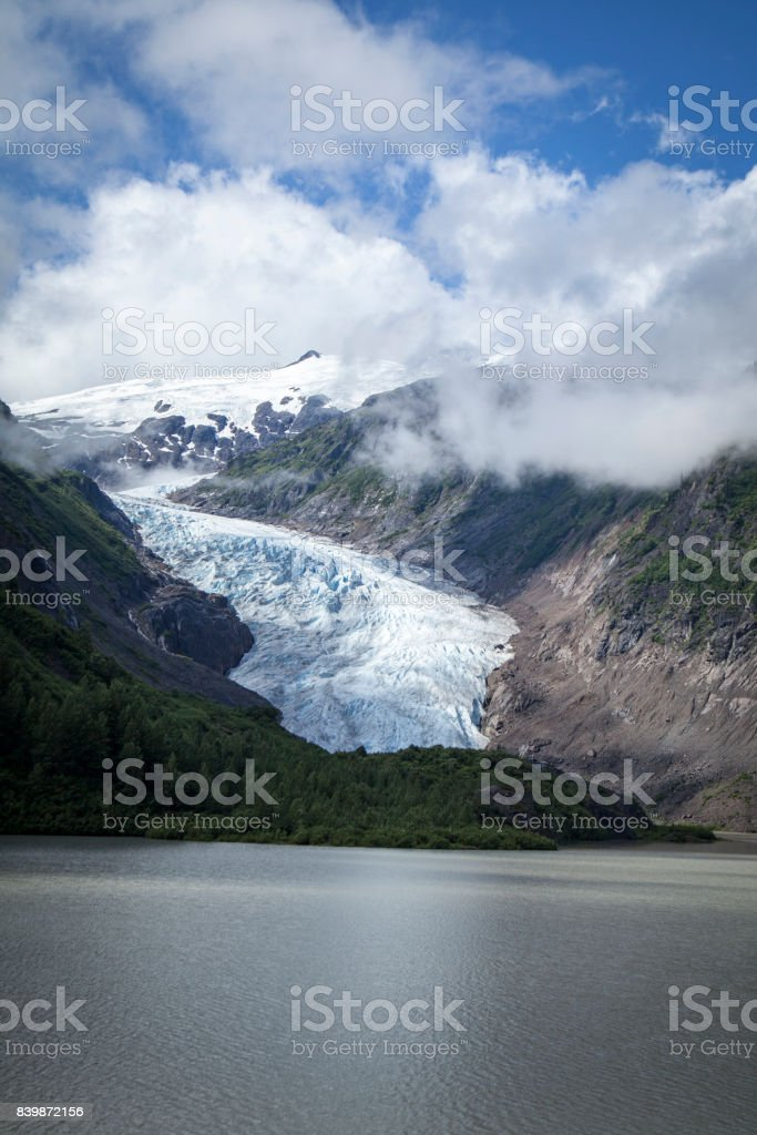 Bear Glacier outside of Stewart, British Columbia, Canada stock photo
