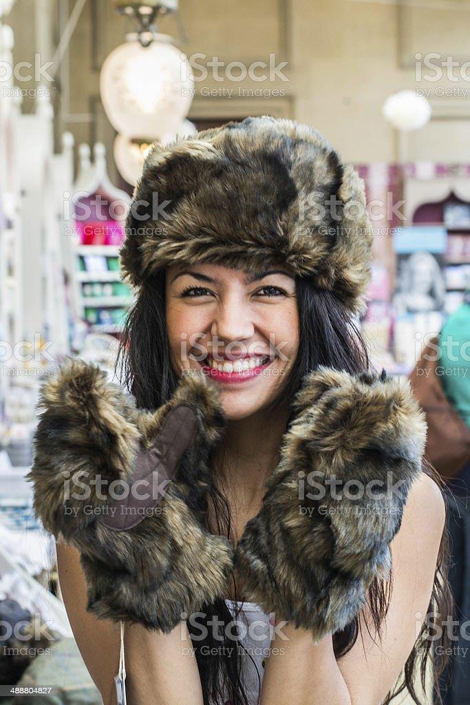 Bear hat stock photo