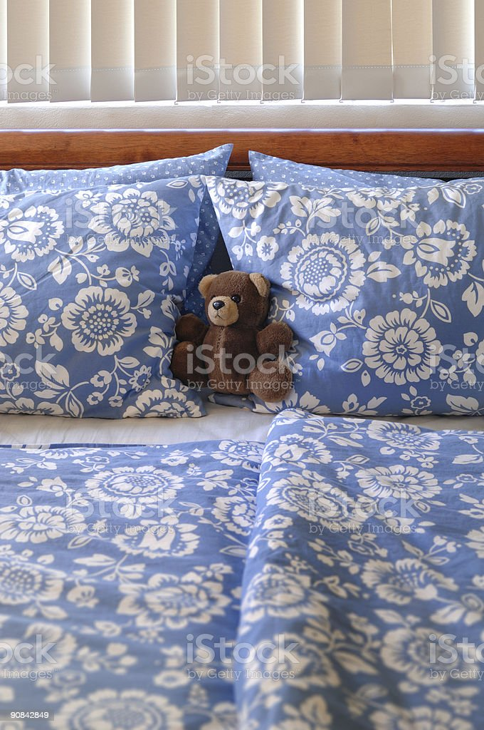 Bear In Bed stock photo