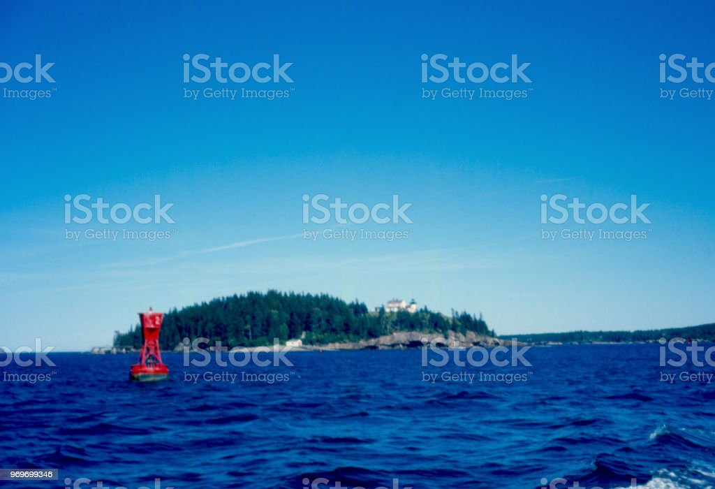 Bear Island with Bouy stock photo