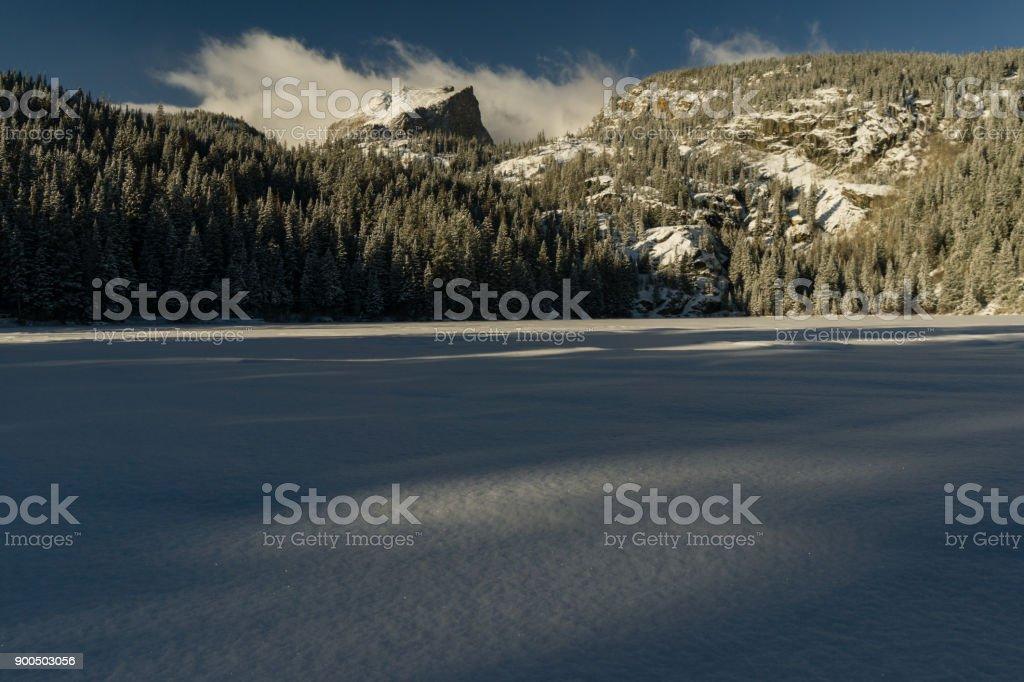 Bear Lake in Winter stock photo
