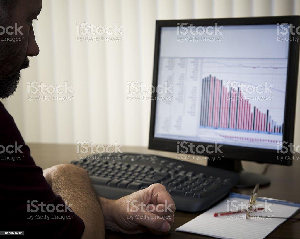 Bear Market - declining stocks and recession royalty-free stock photo