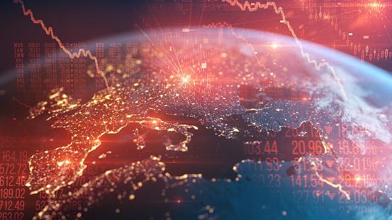 istock Bear Market - Financial Crash - Global Recession - European Economy Going Down 1214324456