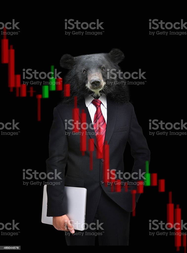 bear market, stock investment concept stock photo