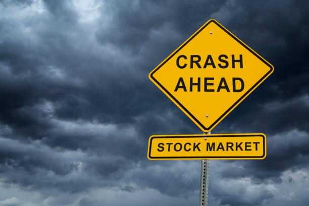 bear market - stock market crash 2020 street sign warning - mphillips007 stock pictures, royalty-free photos & images