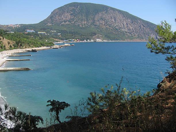 Bear mountain, Crimea, Ukraine stock photo